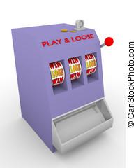 slot machine lose - Old fashioned slot machine. Play and...