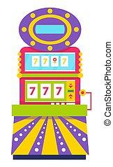 Slot Machine Lucky Sevens Spinning Wheels Gambling