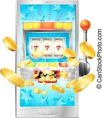 Slot Machine Mobile Phone Concept
