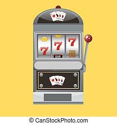 Slot machine realistic style vector illustration
