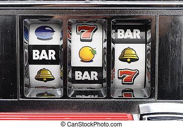 Slot machine rolls - Close up of slot machine rolls