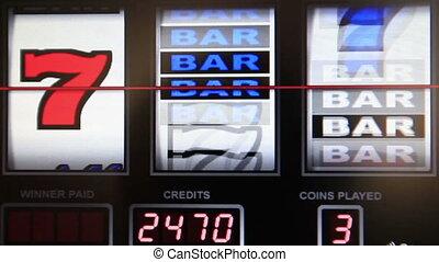 slot machine series, wining any seven