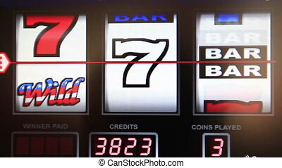 slot machine series, wining any seven
