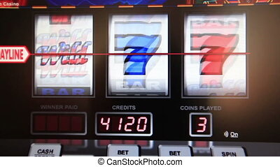 slot machine series, wining bar