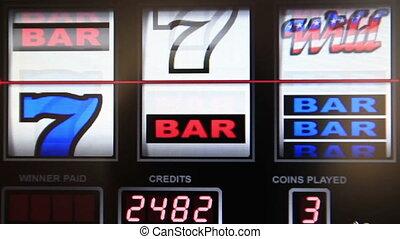 slot machine series, wining double bar