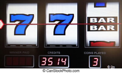 slot machine series, wining triple bar