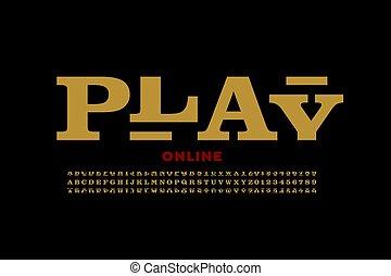 Slot machine style casino font
