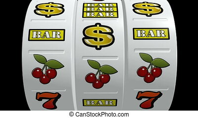 Slot machine Vegas - Slot machine hitting a lucky jackpot