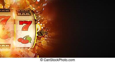 Slot Machine Win Banner