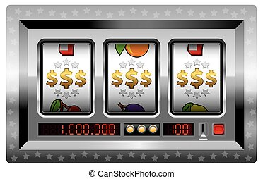 Slot Machine Win Dollars Silver - Dollar symbols win -...