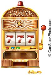 Slot machine with lucky seven