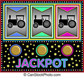 Slot machine with tractors