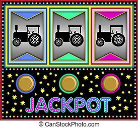 Slot machine with tractors