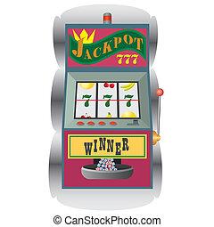 Slot machine with winning combination. - Casino slot machine...