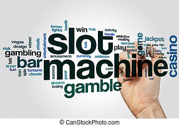 Slot machine word cloud