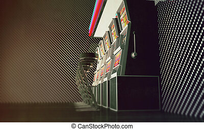slot machines in old photo