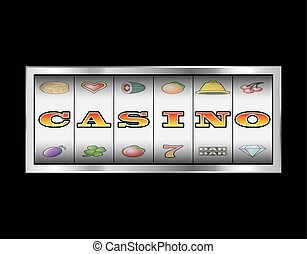 Slot Reels Casino Sign