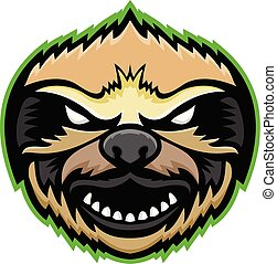 sloth-head-front-mascot