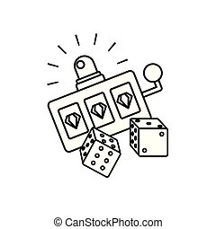 slots machine casino game with dices
