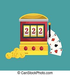 slots machine casino icon