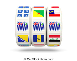Slots with flag of british indian ocean territory