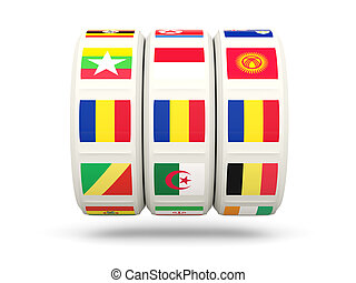 Slots with flag of romania
