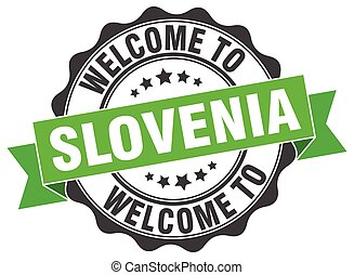 slovénie, rond, ruban, cachet