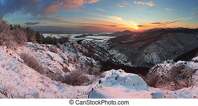 slovacchia, paesaggio inverno