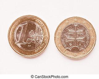 Slovak 1 Euro coin vintage