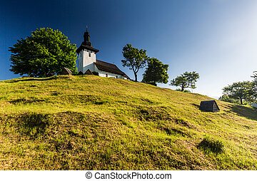 Slovak church in the village Martincek near Ruzomberok, Slovakia