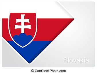 Slovak flag design background layout. Vector illustration.