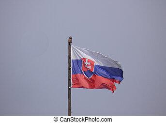 the Slovak national flag of Slovakia, Europe