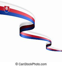 Slovak flag wavy abstract background layout. Vector illustration.