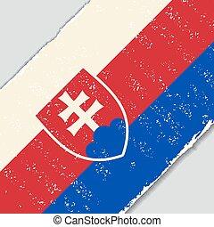 Slovak grunge flag diagonal background. Vector illustration.