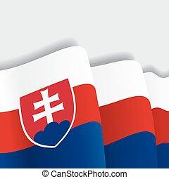 Slovak waving Flag. Vector illustration Eps 8