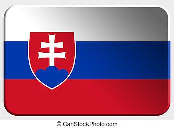 Slovakia 3D button on white background