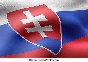 Slovakia 3d flag