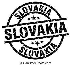 Slovakia black round grunge stamp