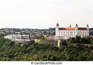 slovakia, bratislava castle and parliament