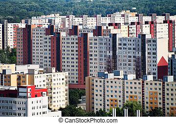 slovakia, bratislava, residential buildings - bratislava in...
