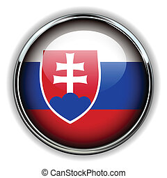 Slovakia button - Slovakia flag button