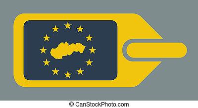 Slovakia European luggage label - Slovakia European travel ...