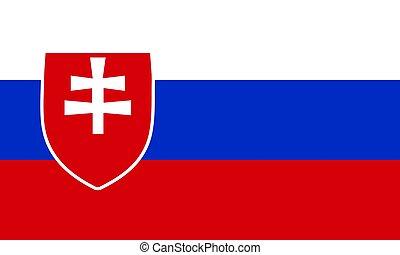 Slovakia flag background, art video illustration.