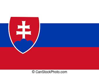 slovakia flag - national flag of slovakia country. world...
