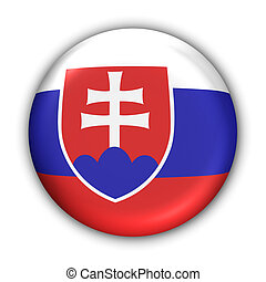 Slovakia Flag - World Flag Button Series - Europe - Slovakia...
