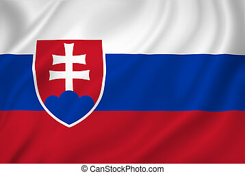 Slovakia flag - Slovakia national flag background texture.