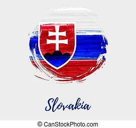 Slovakia grunge round flag background