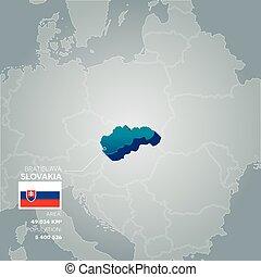 Slovakia information map.