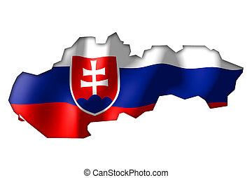 Slovakia - map and flag illustration.