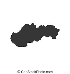 Slovakia map silhouette
